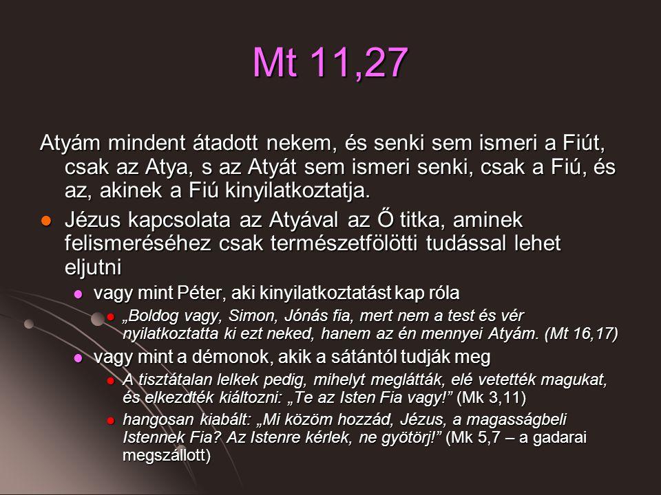 Mt 11,27