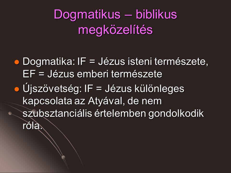 Dogmatikus – biblikus megközelítés