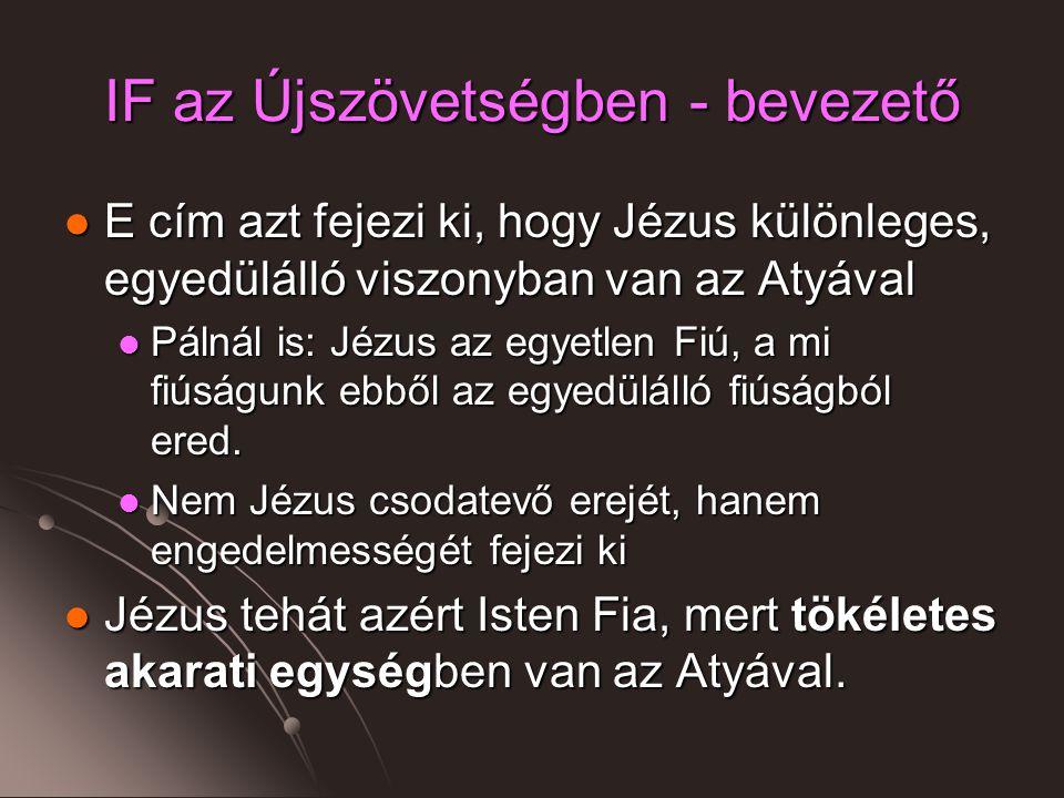 IF az Újszövetségben - bevezető