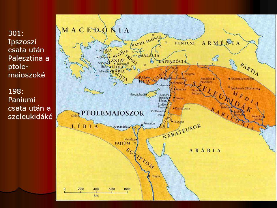301: Ipszoszi csata után Palesztina a ptole-maioszoké