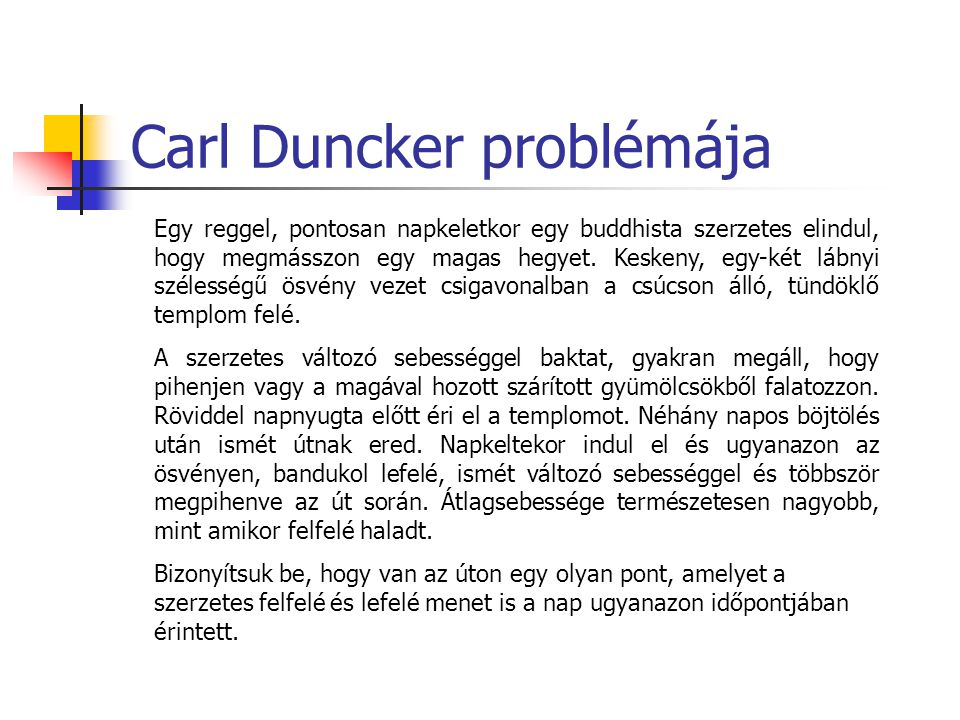 Carl Duncker problémája