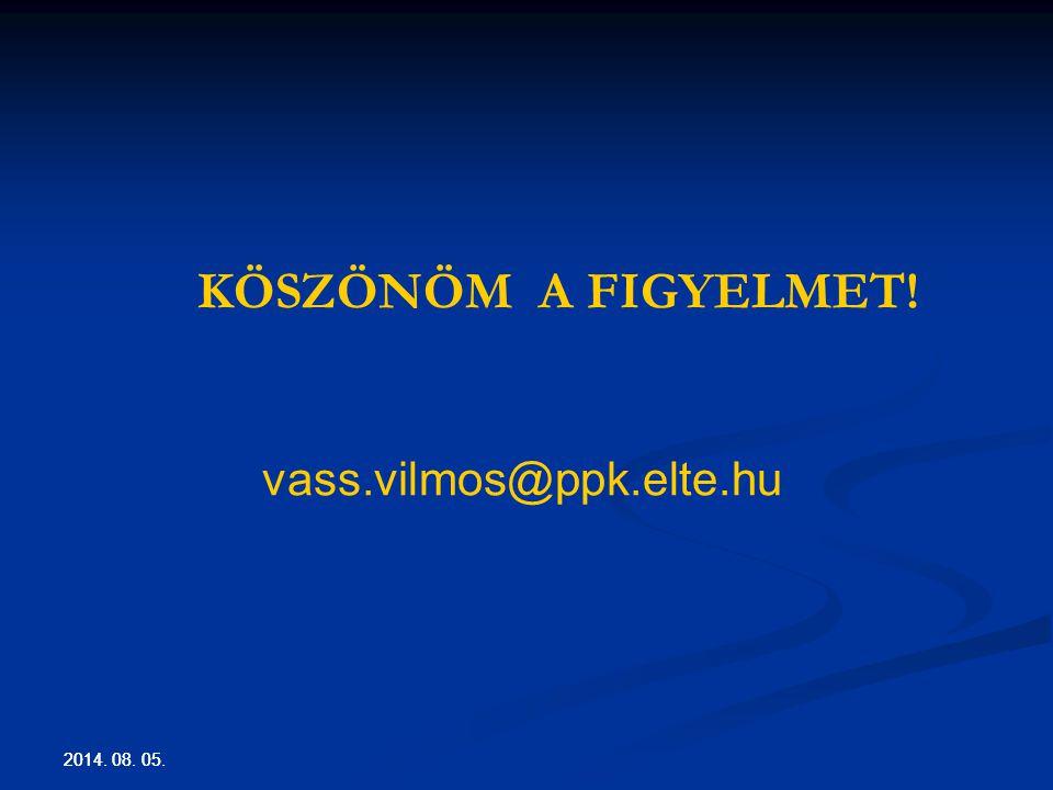 KÖSZÖNÖM A FIGYELMET! vass.vilmos@ppk.elte.hu 2017.04.04. 2017.04.04.