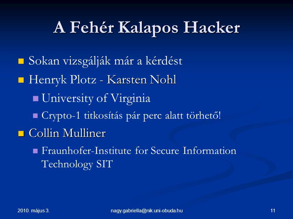 A Fehér Kalapos Hacker Sokan vizsgálják már a kérdést