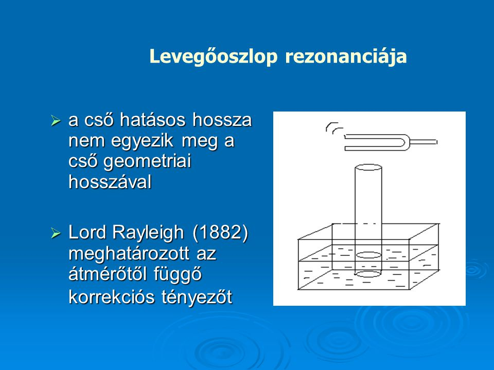 Levegőoszlop rezonanciája