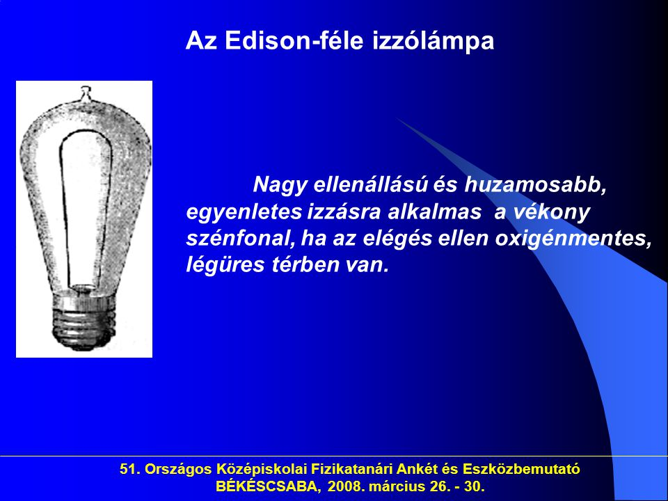Az Edison-féle izzólámpa