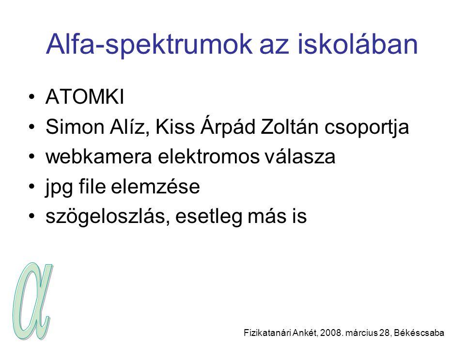 Alfa-spektrumok az iskolában