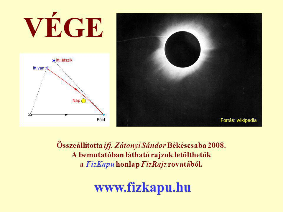 VÉGE Forrás: wikipedia. Összeállította ifj. Zátonyi Sándor Békéscsaba 2008. A bemutatóban látható rajzok letölthetők.