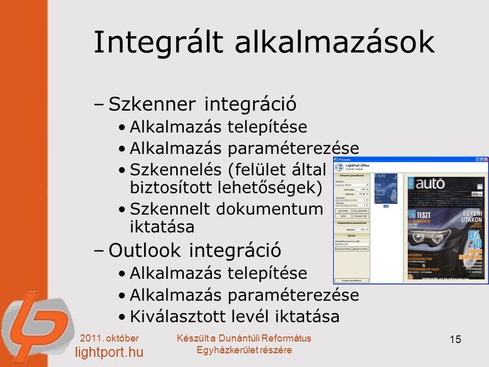 Integrált alkalmazások