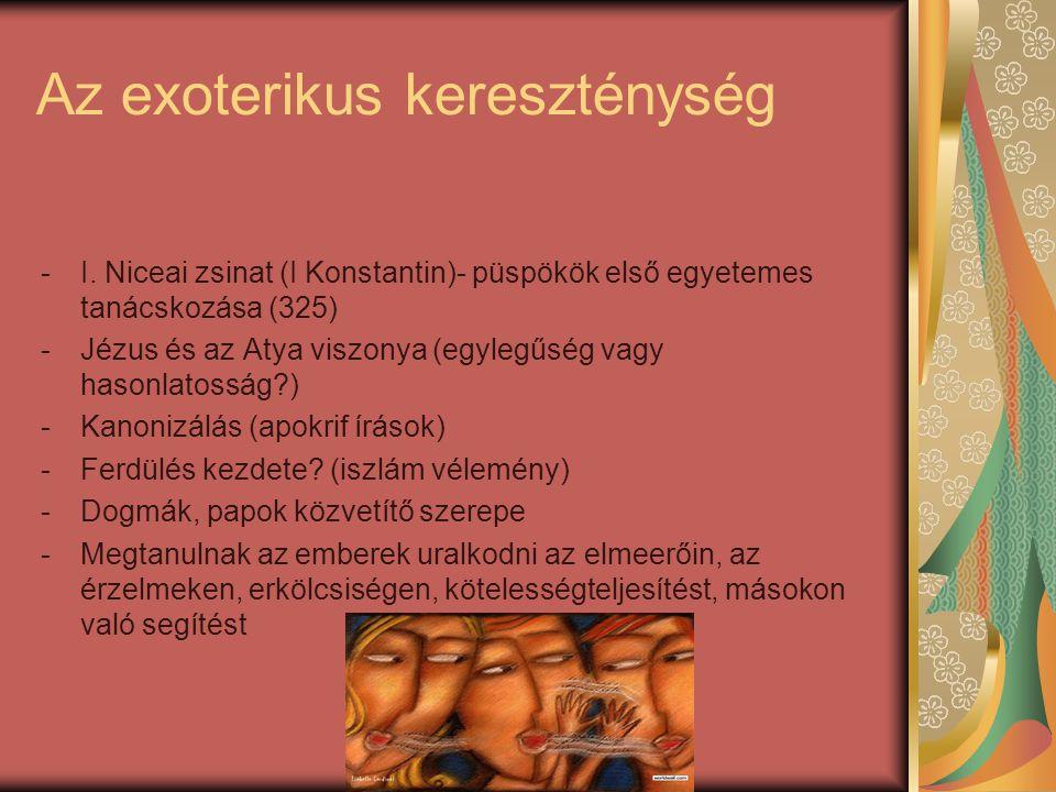 Az exoterikus kereszténység