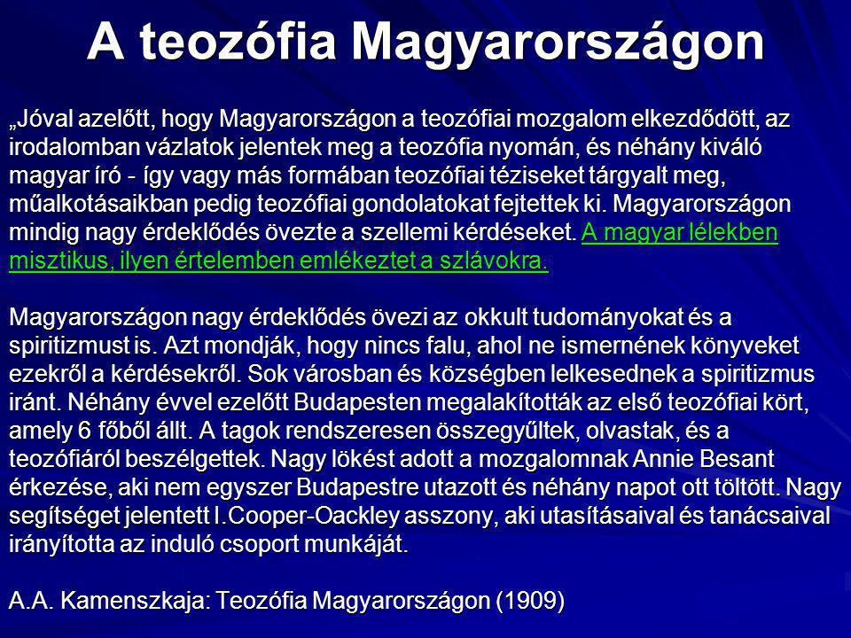 A teozófia Magyarországon