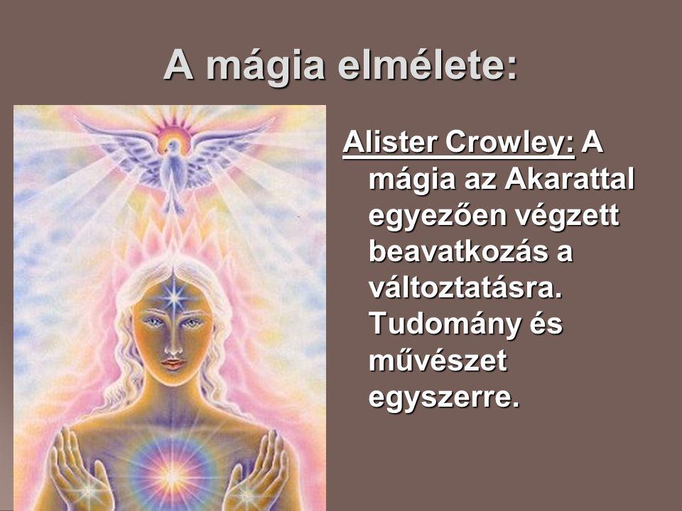 A mágia elmélete: Alister Crowley: A mágia az Akarattal egyezően végzett beavatkozás a változtatásra.