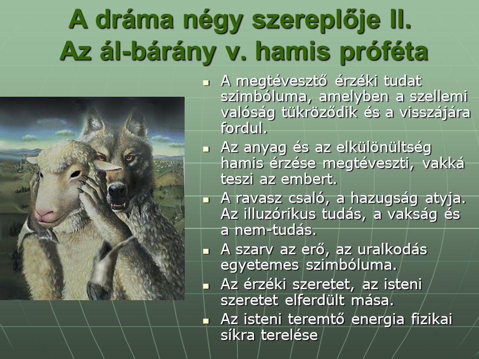 A dráma négy szereplője II. Az ál-bárány v. hamis próféta