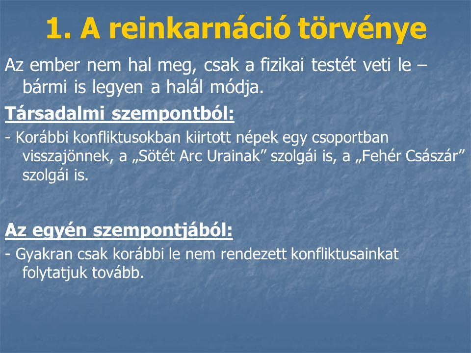 1. A reinkarnáció törvénye