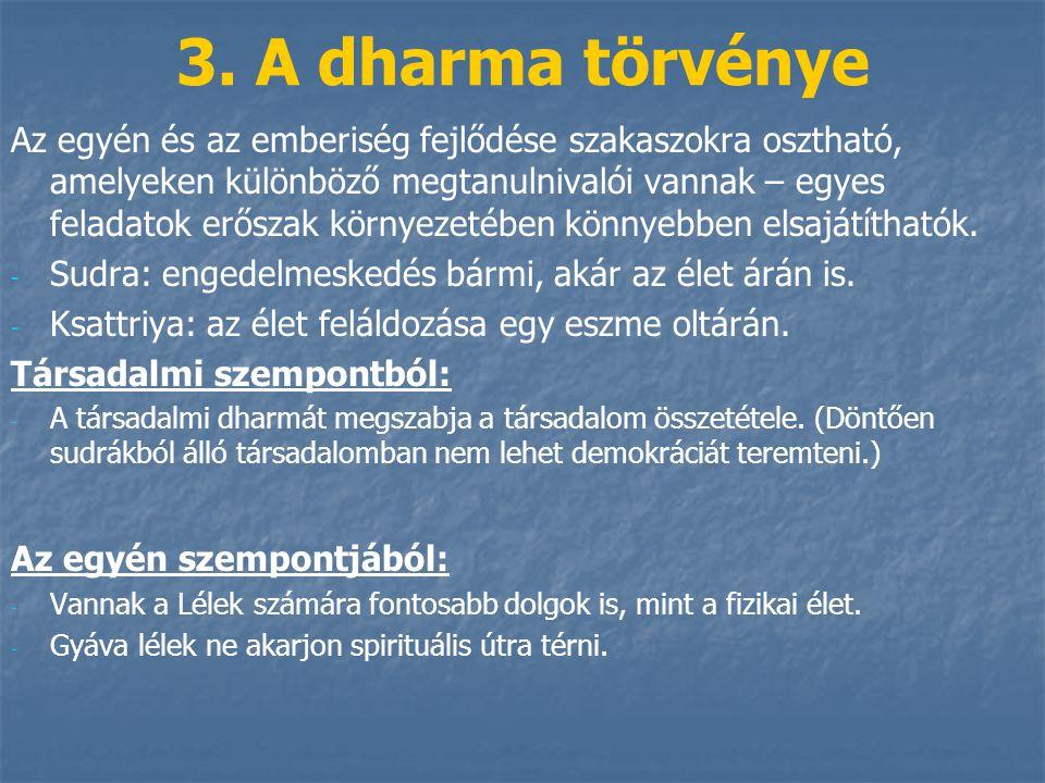 3. A dharma törvénye