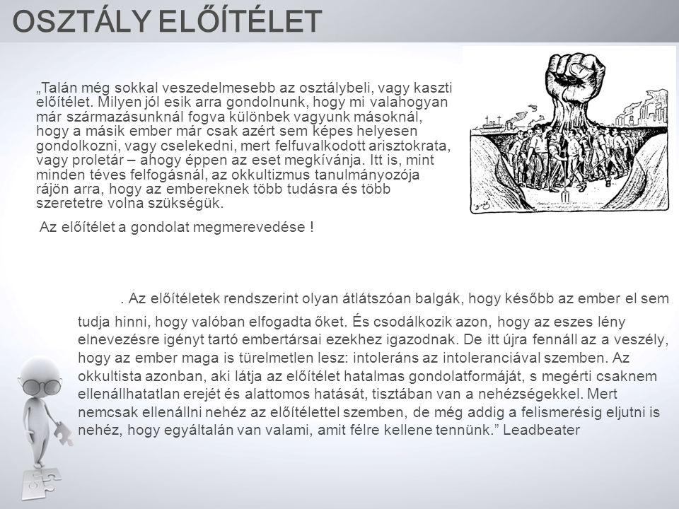 OSZTÁLY ELŐÍTÉLET