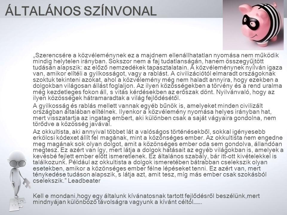 ÁLTALÁNOS SZÍNVONAL