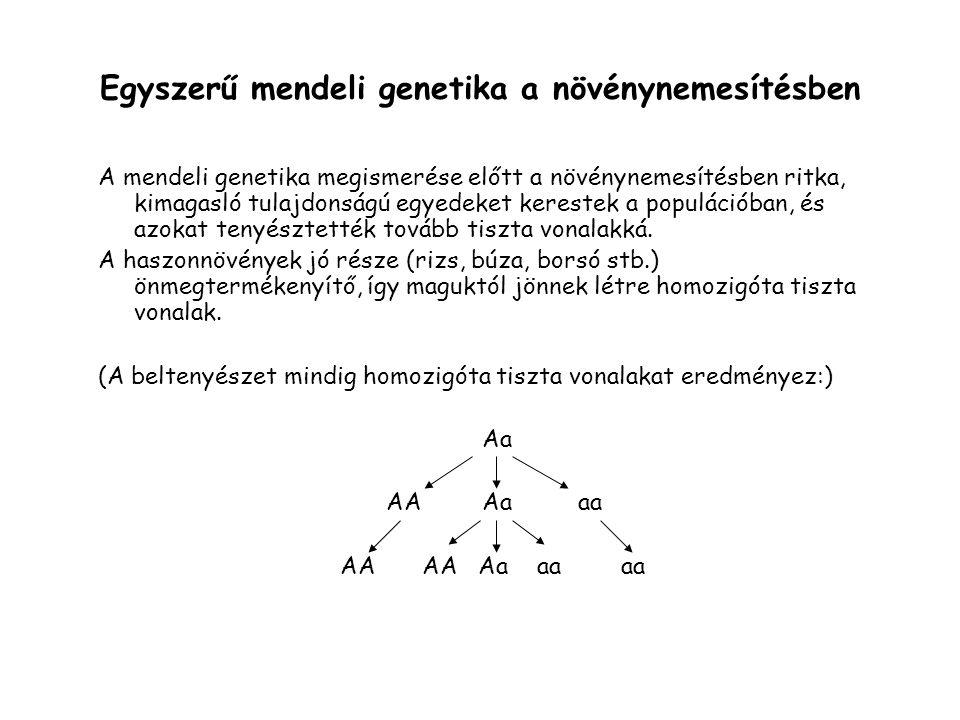 Egyszerű mendeli genetika a növénynemesítésben