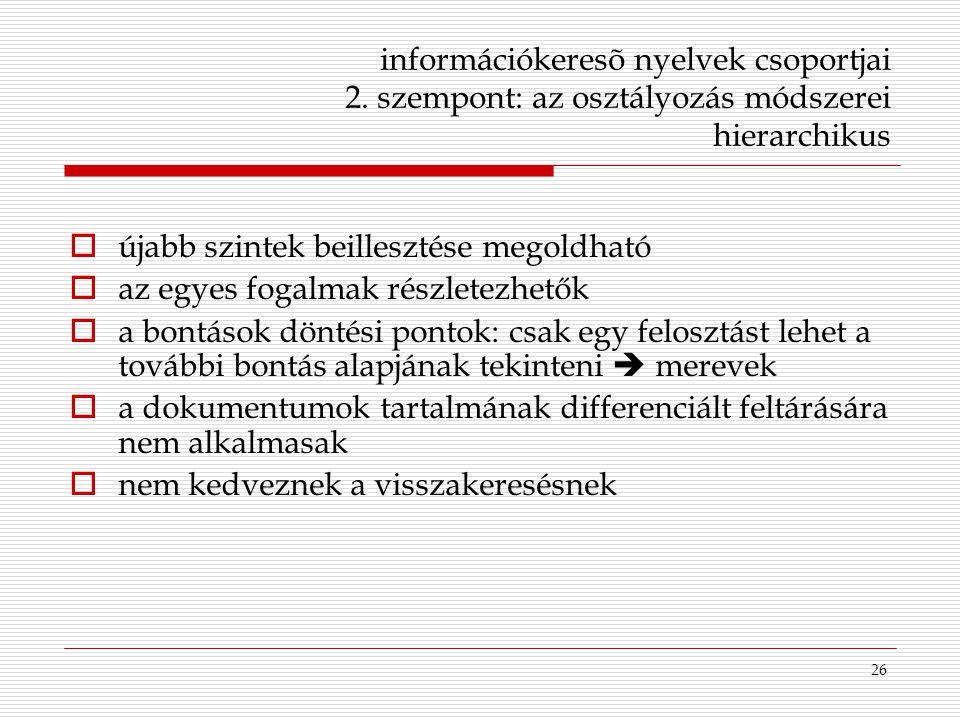 információkeresõ nyelvek csoportjai 2