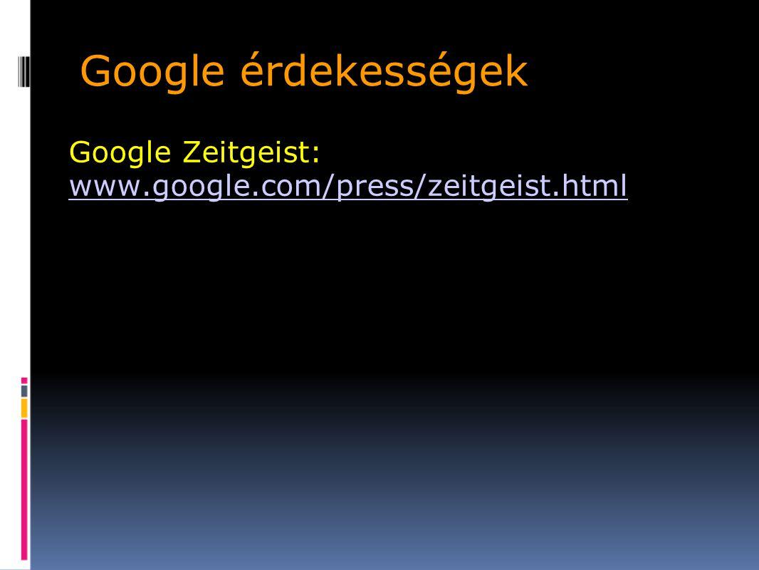 Google Zeitgeist: www.google.com/press/zeitgeist.html