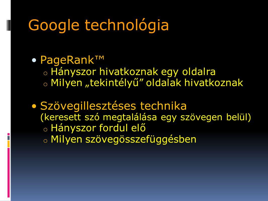 Google technológia PageRank™