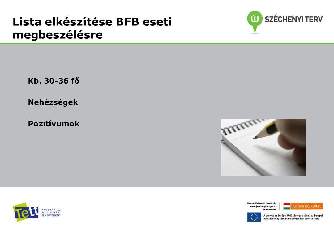 Lista elkészítése BFB eseti megbeszélésre