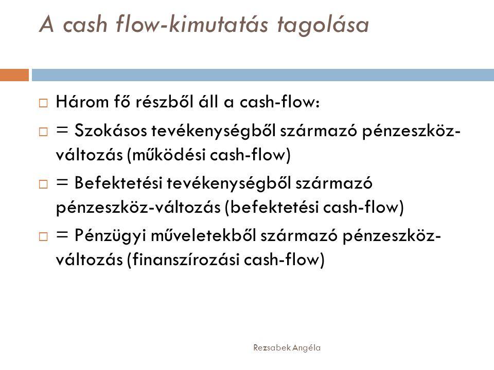 A cash flow-kimutatás tagolása