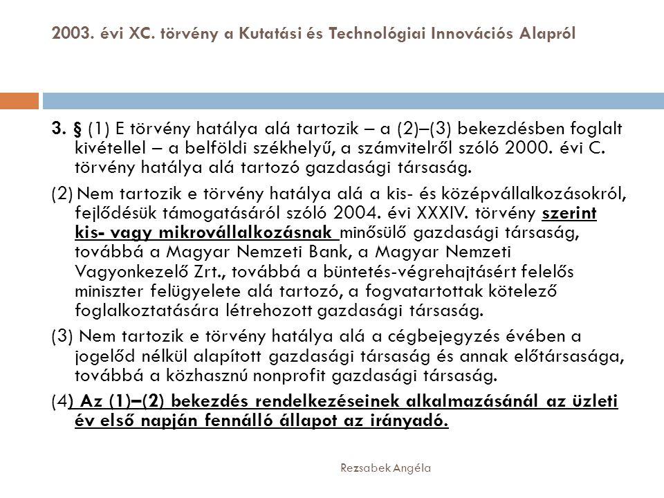 2003. évi XC. törvény a Kutatási és Technológiai Innovációs Alapról