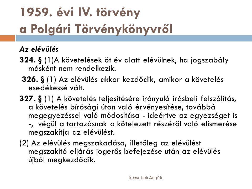 1959. évi IV. törvény a Polgári Törvénykönyvről