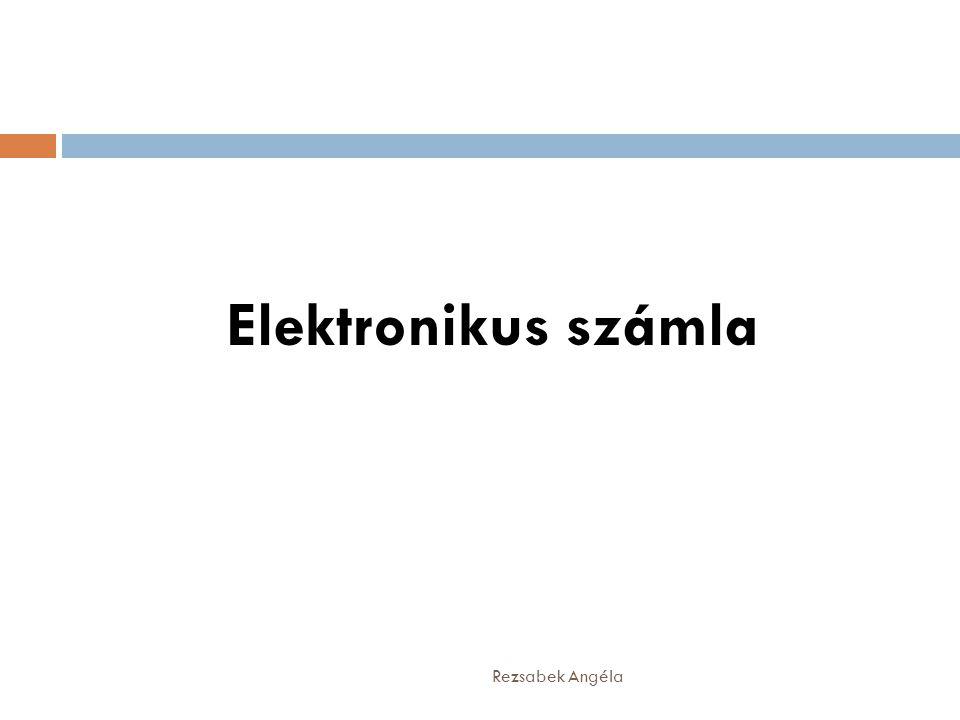Elektronikus számla Rezsabek Angéla