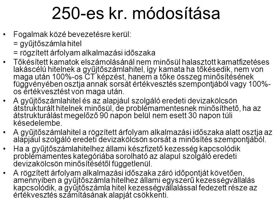 250-es kr. módosítása Fogalmak közé bevezetésre kerül: