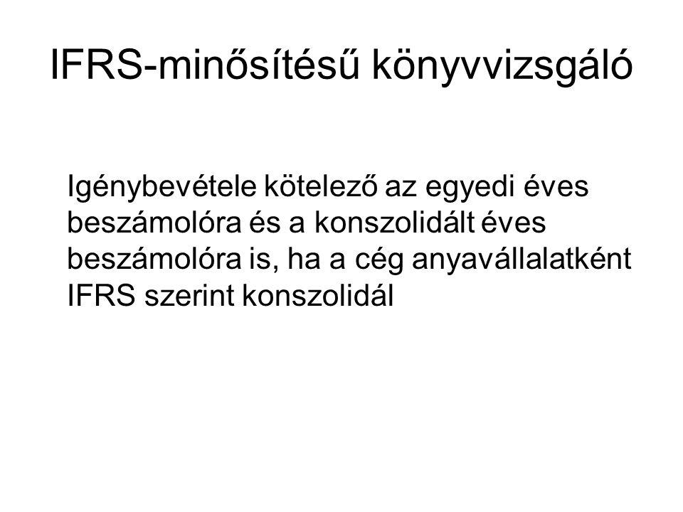 IFRS-minősítésű könyvvizsgáló