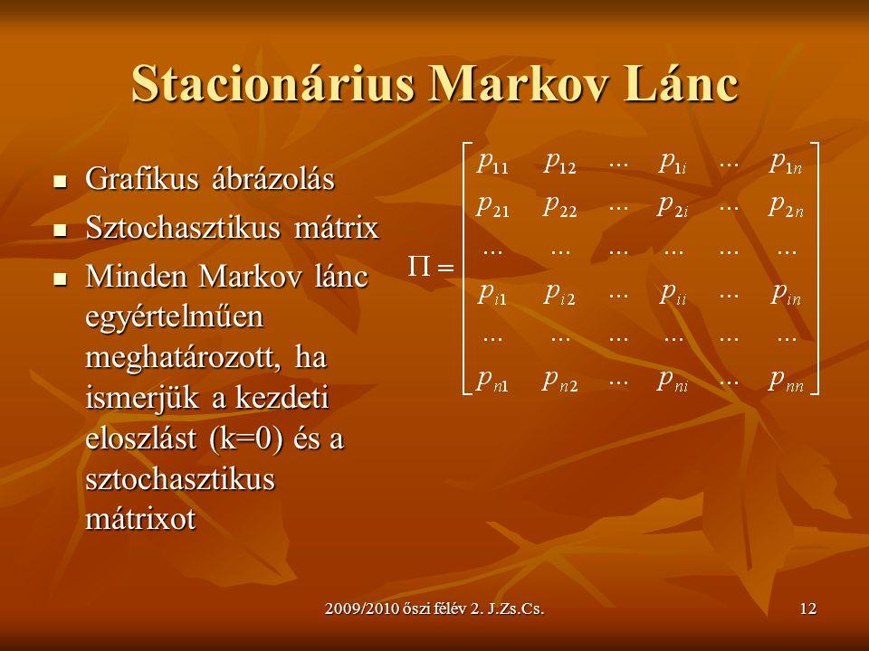 Stacionárius Markov Lánc