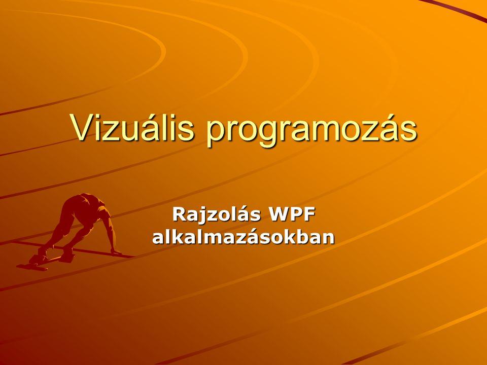 Rajzolás WPF alkalmazásokban