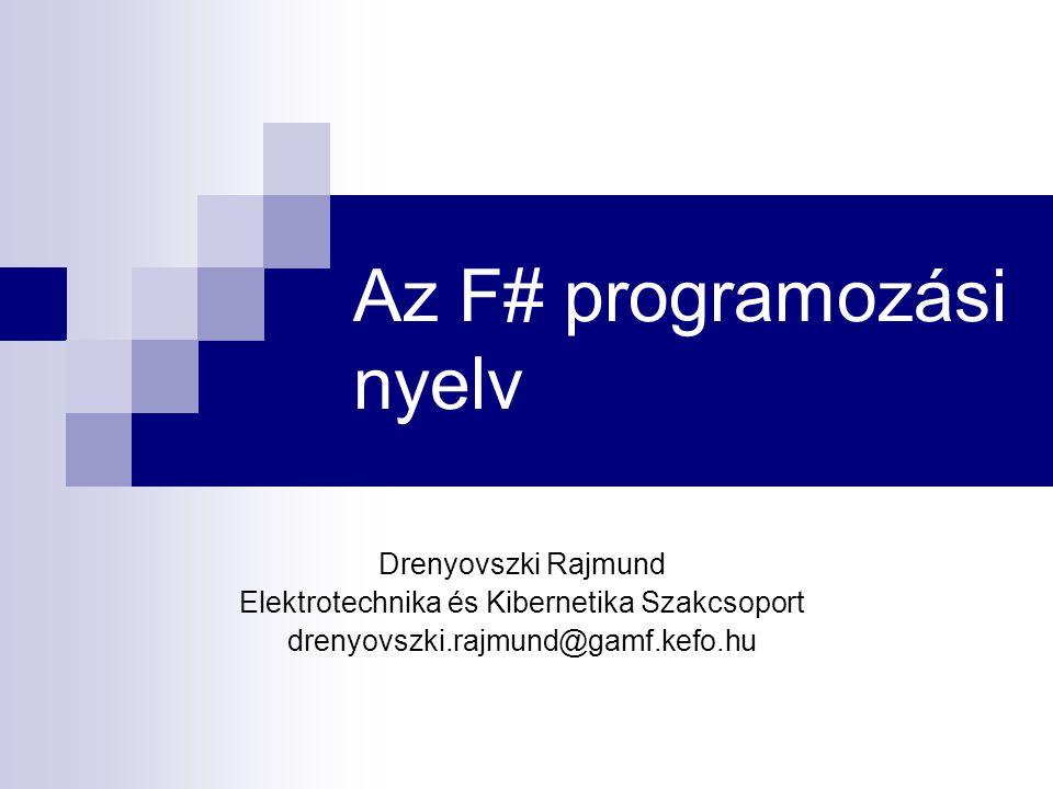 Az F# programozási nyelv