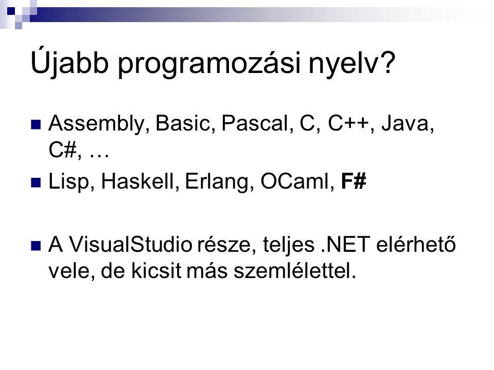 Újabb programozási nyelv
