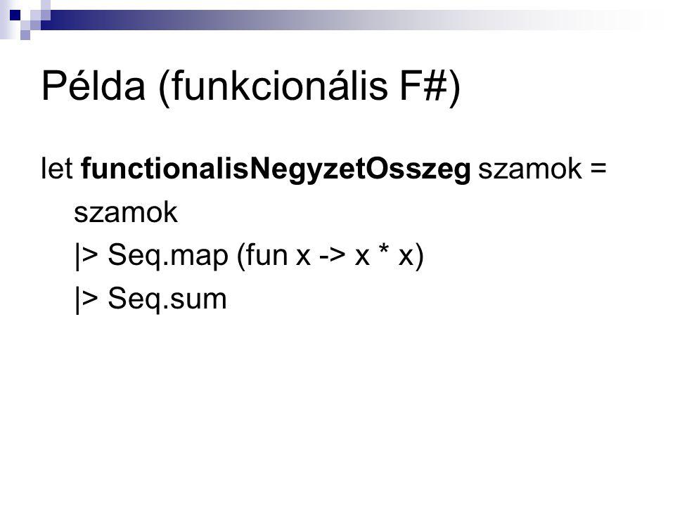 Példa (funkcionális F#)