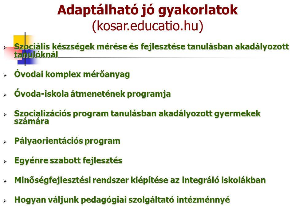 Adaptálható jó gyakorlatok (kosar.educatio.hu)