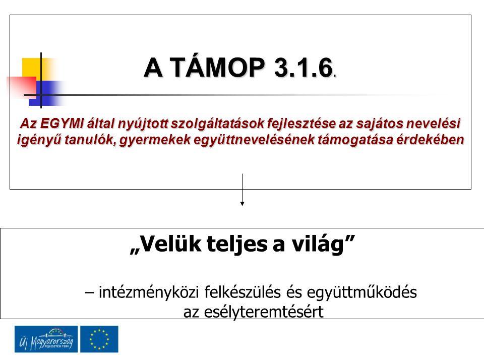 A TÁMOP 3.1.6.