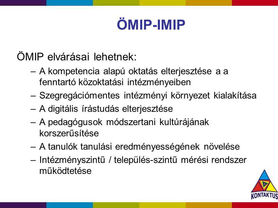 ÖMIP-IMIP ÖMIP elvárásai lehetnek: