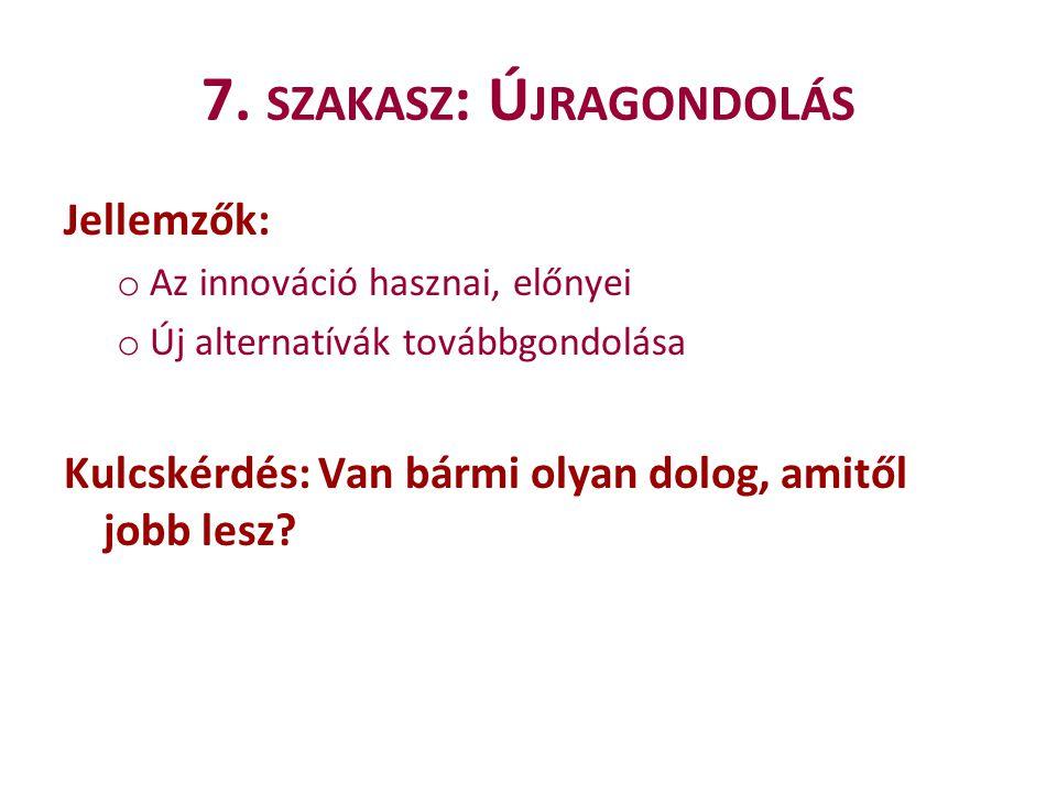 7. szakasz: Újragondolás