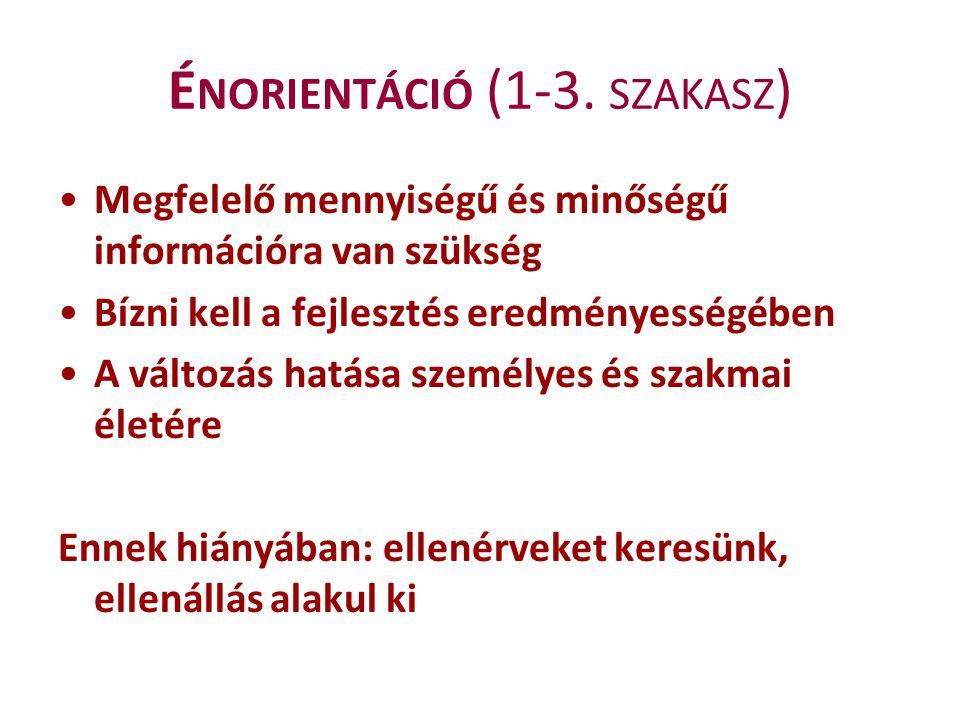 Énorientáció (1-3. szakasz)