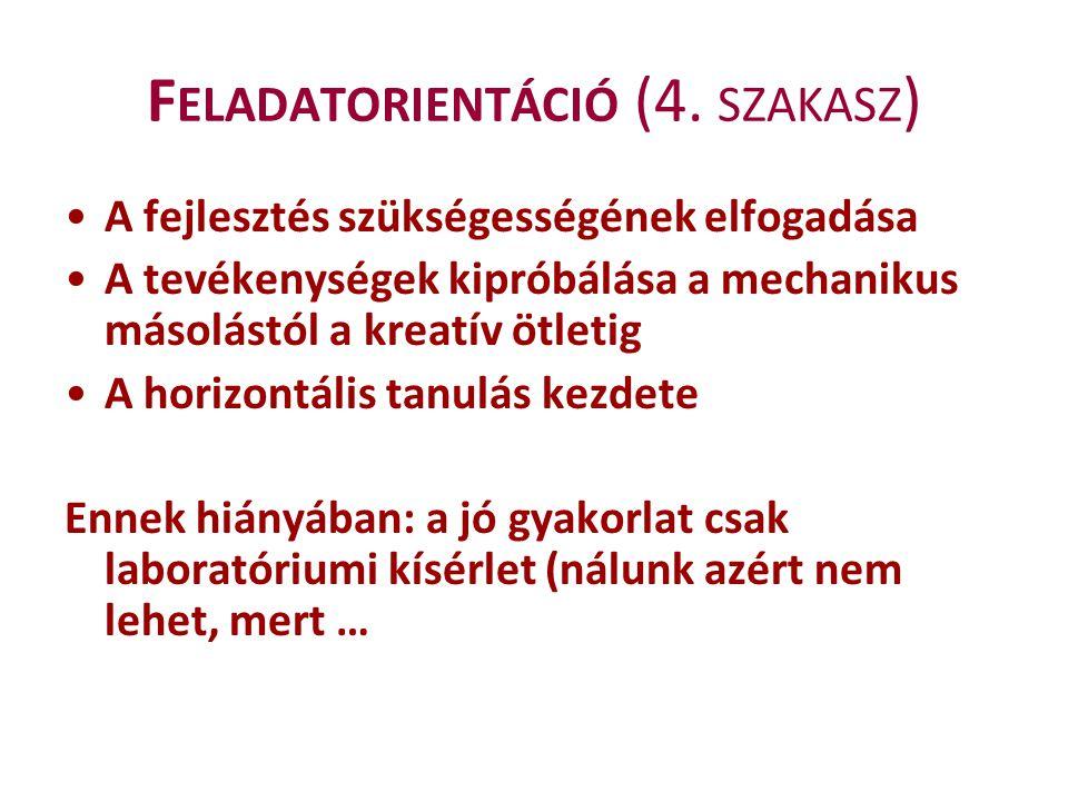 Feladatorientáció (4. szakasz)