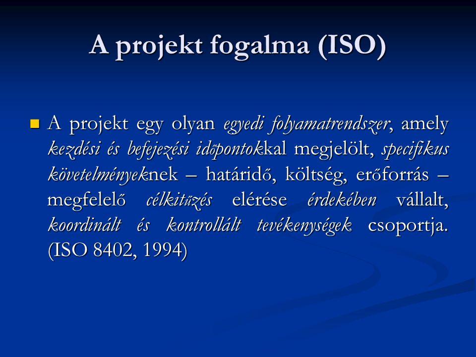 A projekt fogalma (ISO)