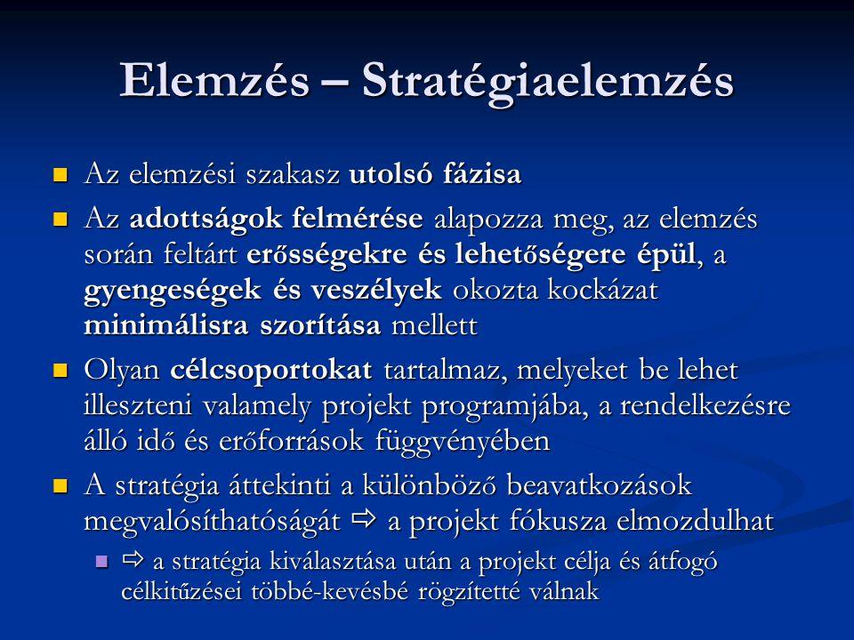 Elemzés – Stratégiaelemzés