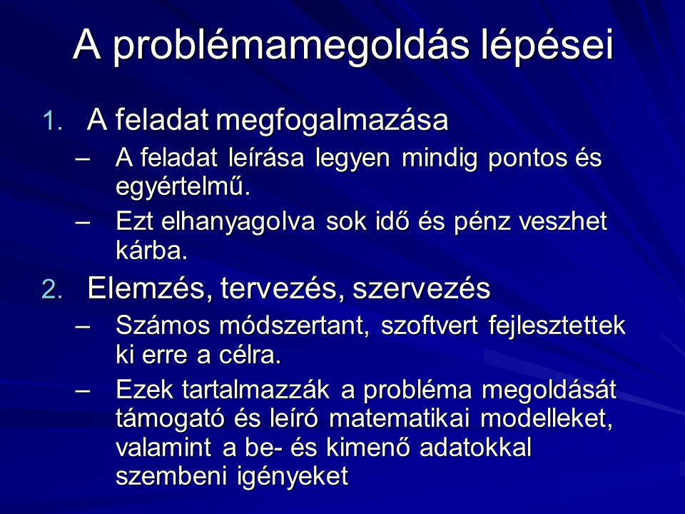 A problémamegoldás lépései