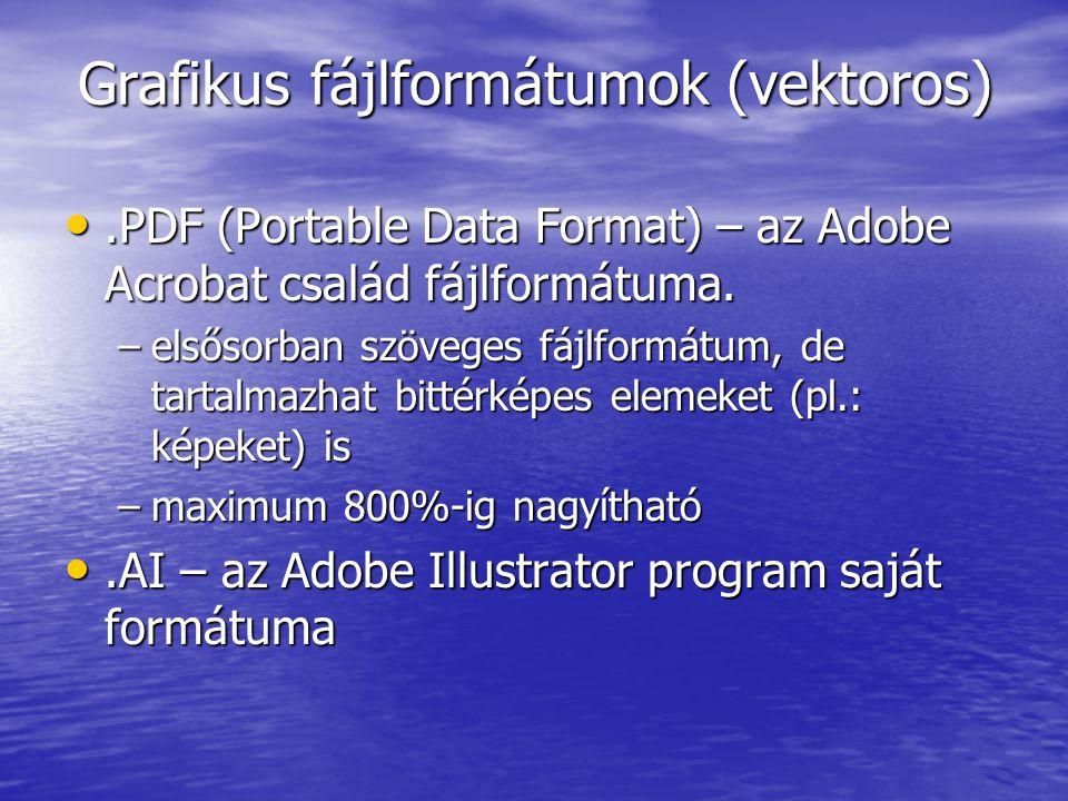 Grafikus fájlformátumok (vektoros)
