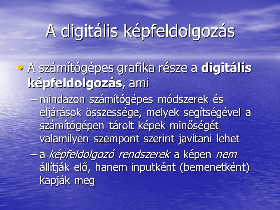 A digitális képfeldolgozás