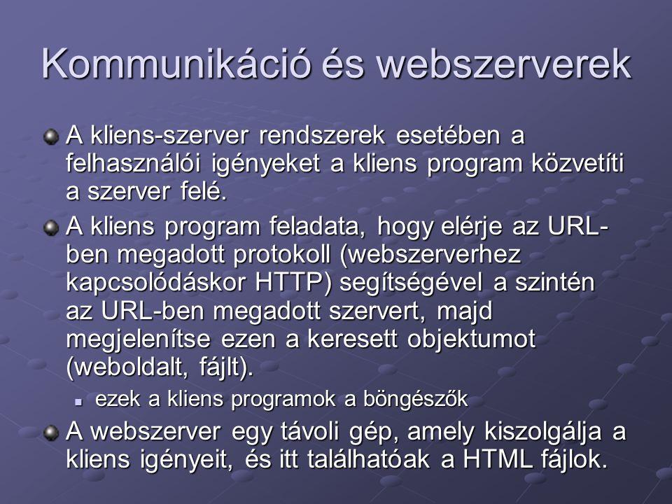 Kommunikáció és webszerverek