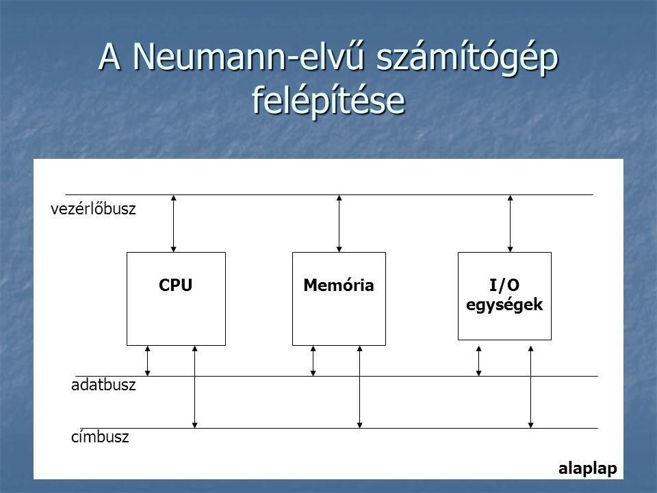 A Neumann-elvű számítógép felépítése
