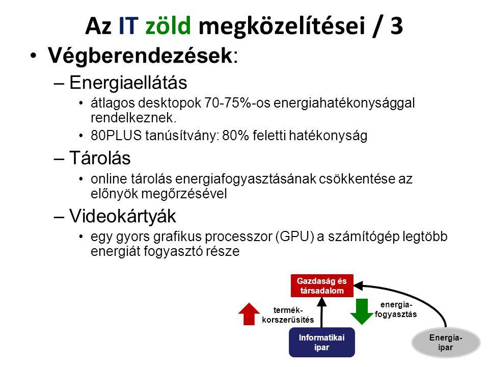 Az IT zöld megközelítései / 3